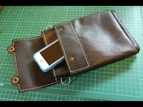 Making a Leather Sling Bag - YouTube