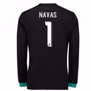 Real Madrid Brankářské Keylor Navas 1 Venkovní Dres 17-18 Dlouhý Rukáv