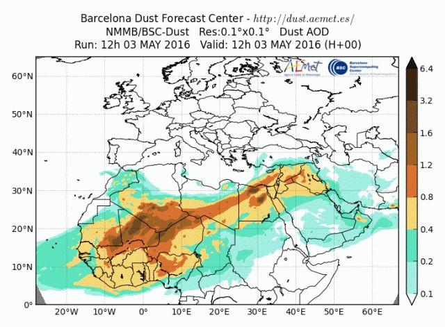 Alertan de masas de aire africano que pueden provocar concentraciones de polvo en suspensión