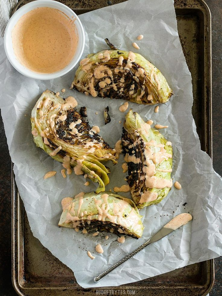 Blackened Cabbage is a fast and simple side dish that pairs beautifully with any grilled or BBQ meat. Add a creamy chipotle mayo for extra punch. BudgetBytes.com