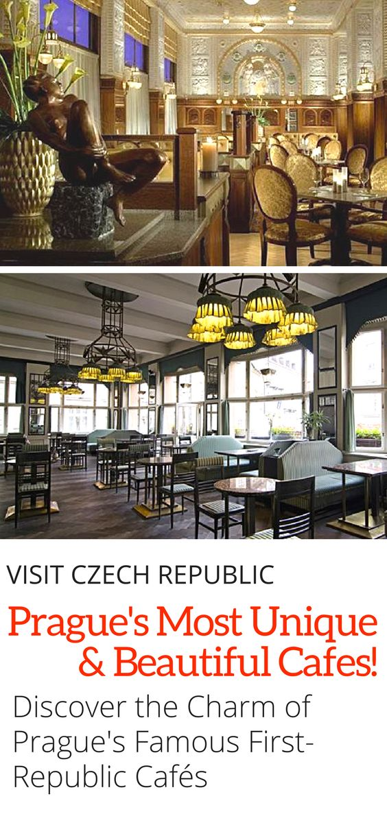 Prague Cafe Guide: Visit the most stunning and unique cafes in Prague from the First-Republic. Click here to find out where you can sip your coffee in style in the capital of the Czech Republic!