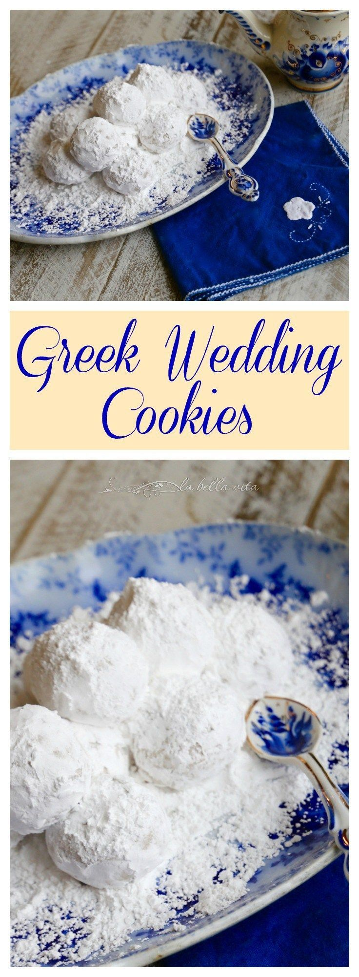 Greek Wedding Cookies Kourabiethes Kourabiedes                                                                                                                                                      More