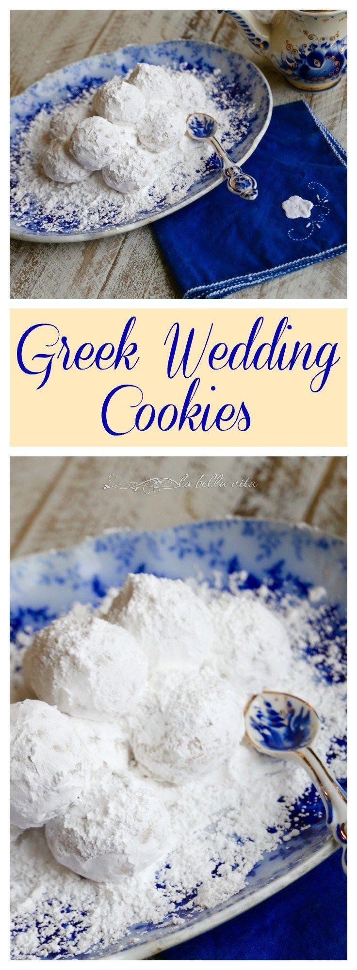 Greek Wedding Cookies Kourabiethes Kourabiedes More