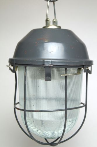Kellerlampe Bunkerlampe Industrielampe Fabriklampe Ex Industrial Lamp in Antiquitäten & Kunst, Design & Stil, 1970-1979 | eBay