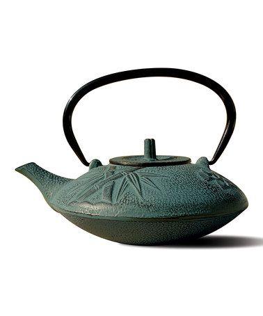 Look at this #zulilyfind! Shale Green Cast Iron Sakura Teapot by Old Dutch International #zulilyfinds