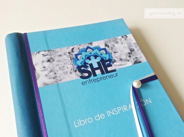 Tapa del Libro de Inspiración para She Entrepreneur, para que las emprendedoras dejen sus datos y dedicatorias.  Encontrá en la web un diseño para el tuyo http://www.milibrodefirmas.com/#!modelos/c1x0a
