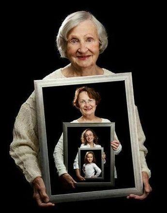 Das ist eine echt sehr coole Idee, alle Generationen auf ein Foto zu bringen! Von jung bis alt! Wunderbar! – DIY Bastelideen
