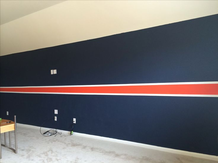 Chicago Bears wall done for man cave.