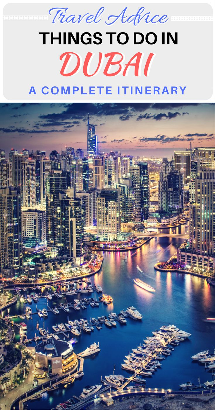 A complete 4 day itinerary for when you travel to Dubai.