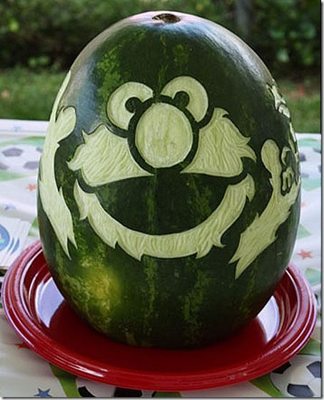 Watermelon pumpkin patterns and carving on