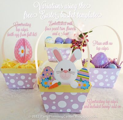 Paper Easter Baskets {Printable}