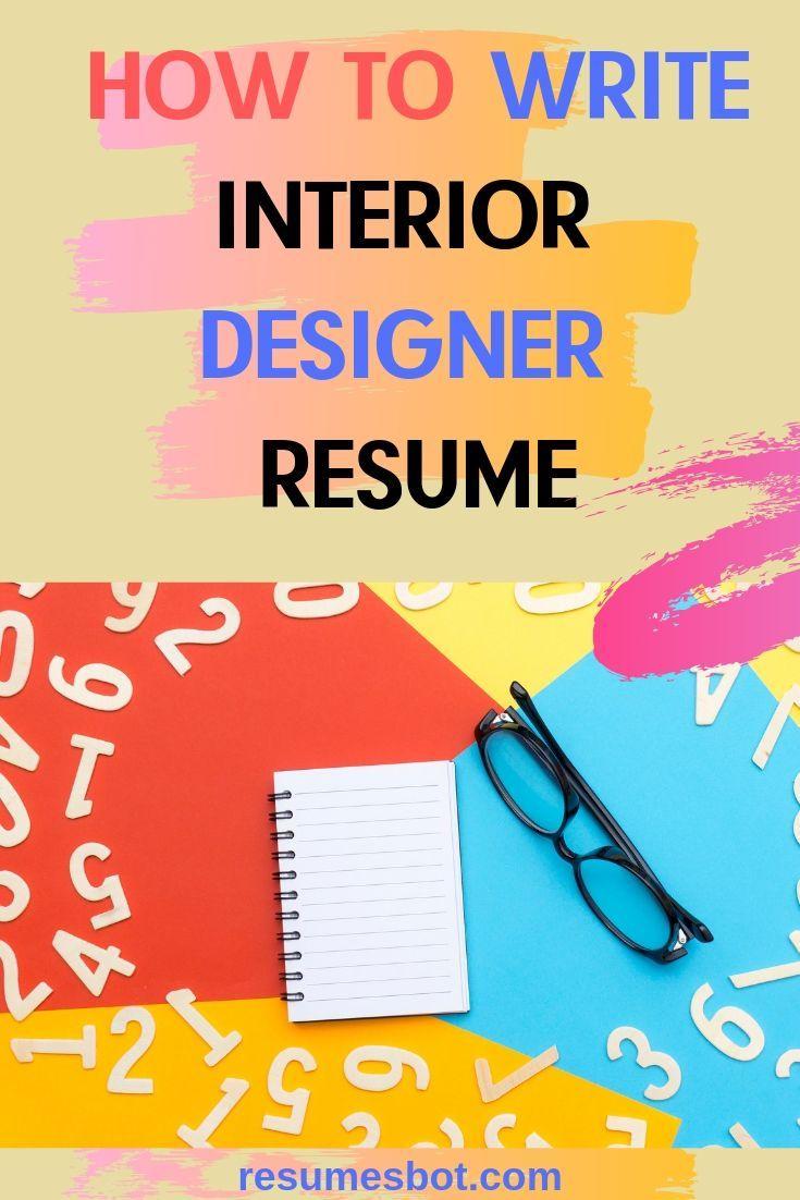 Interior designer resume samples templates pdfword