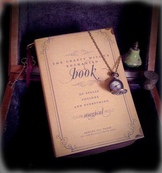 Halloween Spells and Potions Witch Craft Book Clutch by psBesitos, €60.00