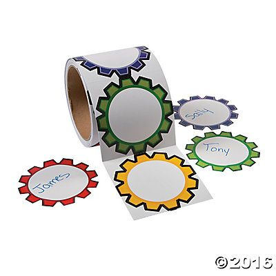 100 Gears Name Tags/Labels