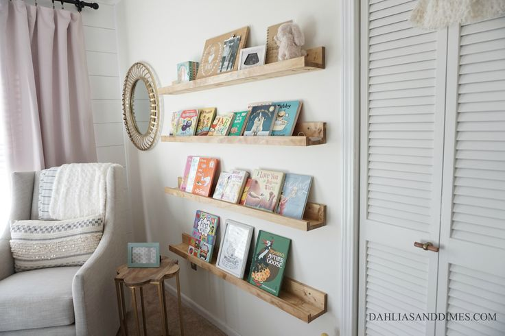 DIY Book Ledges | One Room Challenge: Week 4