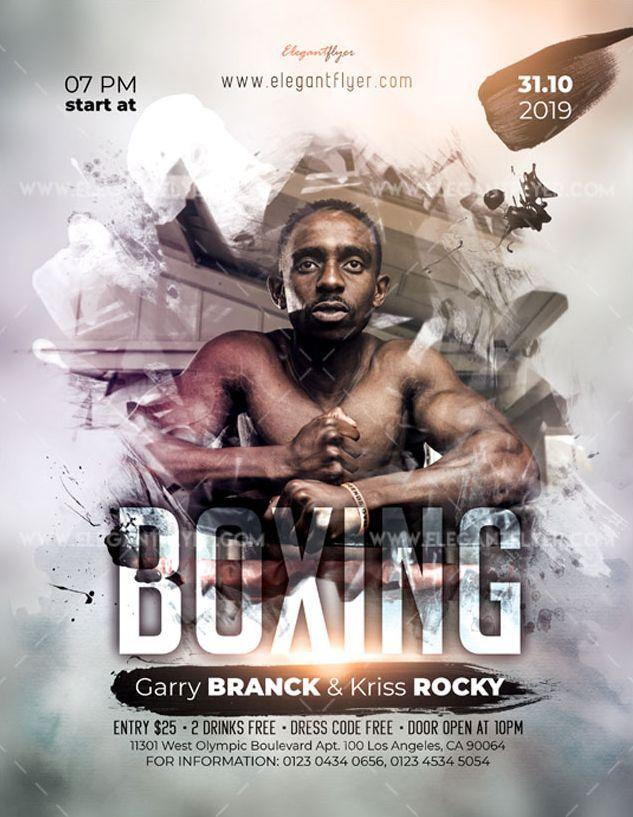 Boxing Event Free Flyer Psd Template Com Imagens Cartaz