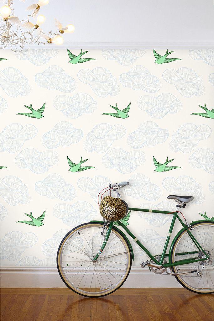 Daydream Wallpaper in Green – Julia Rothman
