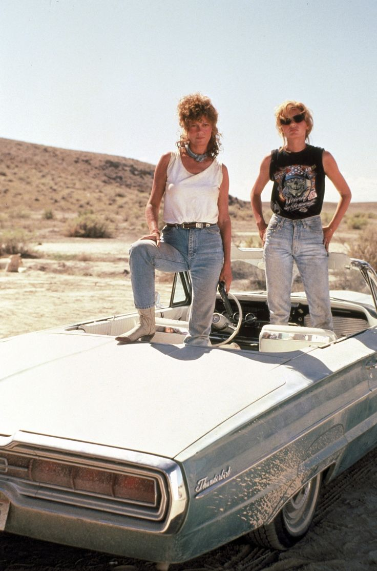 Susan Sarandon and Geena Davis - 'Thelma and Louise', 1991. Yes!