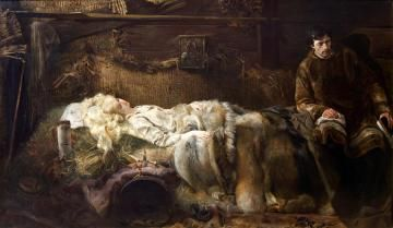 """Jacek Malczewski """"Śmierć Ellenai"""" (1883), Muzeum Narodowe w Krakowie - Sukiennice"""