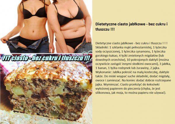 Dietetyczne ciasto jabłkowe - BEZ CUKRU I TŁUSZCZU!!!