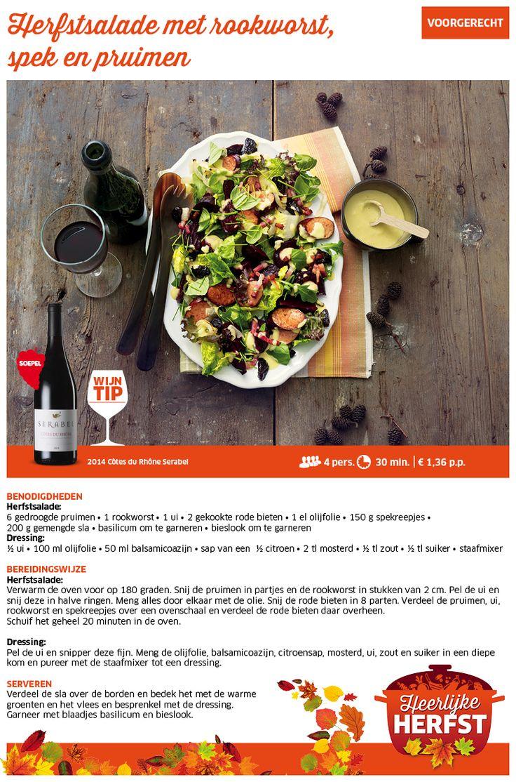 Herfstsalade met rookworst, spek en pruimen - Lidl Nederland