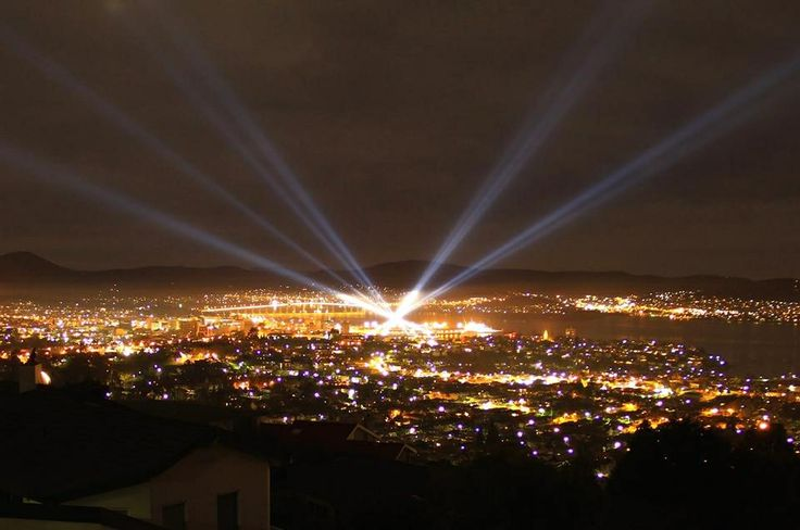 Hobart. Dark MOFO. Winter festival. Light show. Tasmania