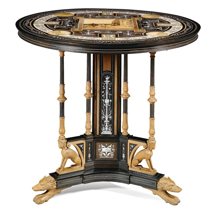 An Italian Rosewood, Amaranth, Fruitwood, Ebony, Pen Engraved Ivory Inlaid  And Marquetry