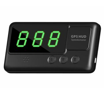 Universal Car HUD Head-Up Display GPS Speedometer With Over-Speed Alarm Tired Driving Warning Sale - Banggood.com