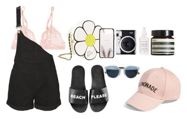 """thinkin' about summer"" by viennaelgiva on Polyvore featuring La Perla, Vero Moda, Amici Accessories, Schutz, Betsey Johnson, Holly's House, Kate Spade, Aesop, Fuji and Christian Dior"