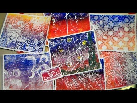 recycled styrofoam tray printmaking - YouTube