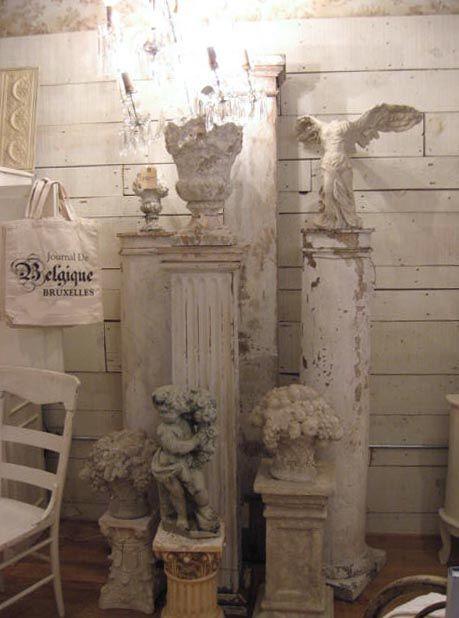columns | cherubs | shabby chic | white