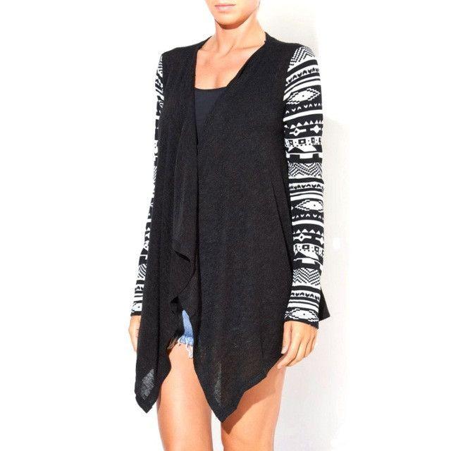 New Fashion Women Long Sleeve Casual Knit Coat Irregular Sweater Cardigan Outwear