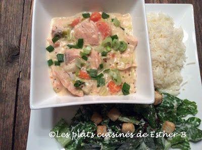 Les plats cuisinés de Esther B: Blanquette de saumon