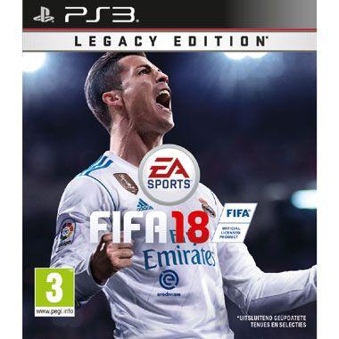 PlayStation 3 FIFA 18  Betreed het virtuele voetbalveld met FIFA 18 voor de PlayStation 3! FIFA 18 Legacy Edition kent een bijgewerkte visuele identiteit met een nieuw ontwerp voor de interface en menuschermen in de game.  EUR 56.99  Meer informatie