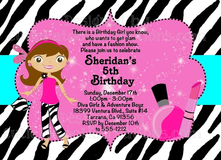1000 images about Fashion Show Party – Birthday Invitation Model