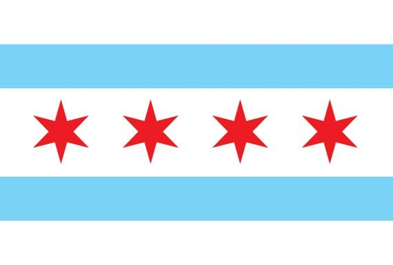 Chicago Illinois Flag Flags 1 Vector Eps Dxf Svg Png Etsy Chicago Illinois Flag Vector Chicago Flag