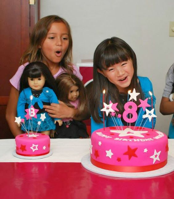 american girl party cakes | week I mentioned I was planning an American Girl Doll birthday party ...