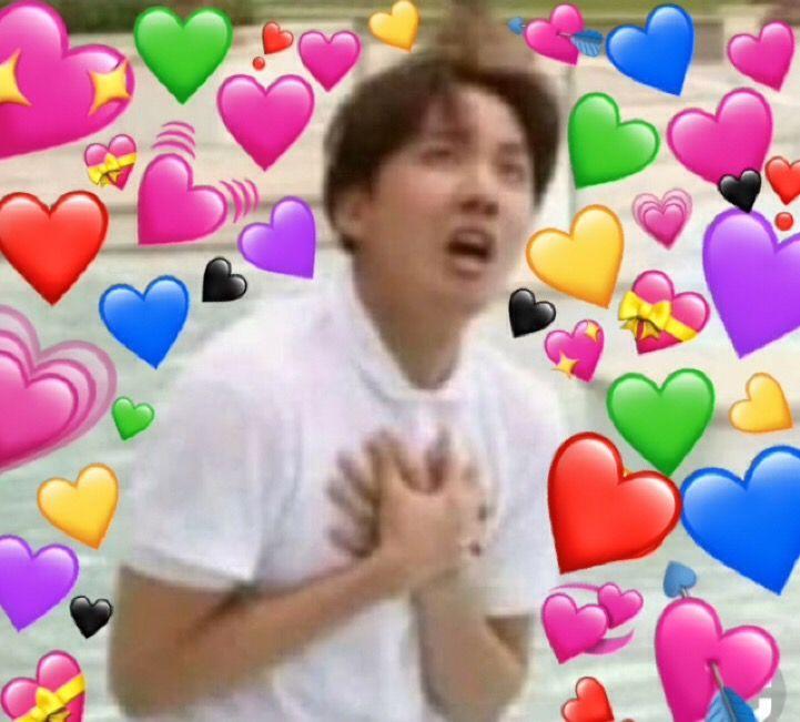 Oh His Heart J Hope Ur So Cute Dork Bts Emoji Bts