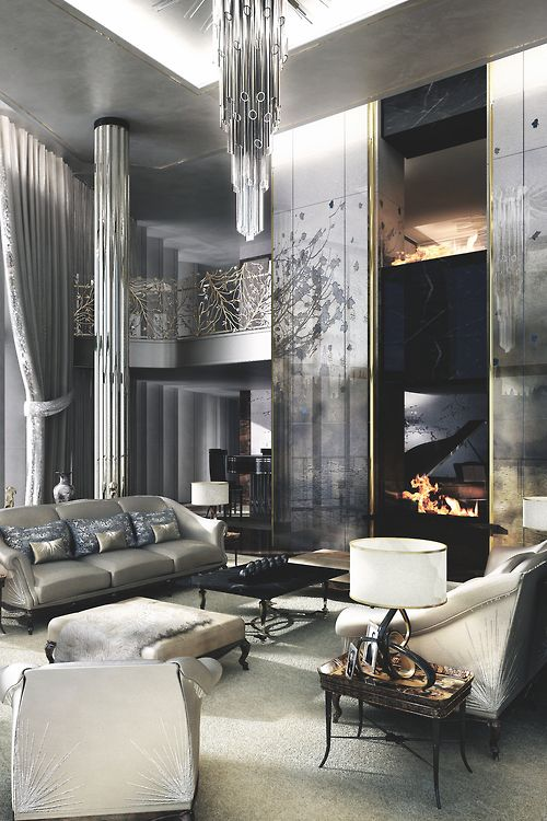 This Living Room Its Mostly Silver And Grey But So Elegant See Luxury Decor Idea Be Enchanted