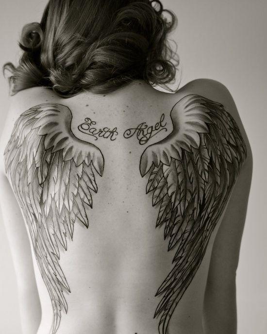 Fotos de tatuagens de asas 17