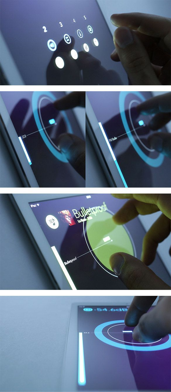 Interesting #ProofOfConcept for cars' tactile #UI and #UX. Simple gestures to control multiple parameters