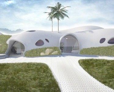Надувной бетон позволяет построить полноценный дом всего за несколько часов и $3500
