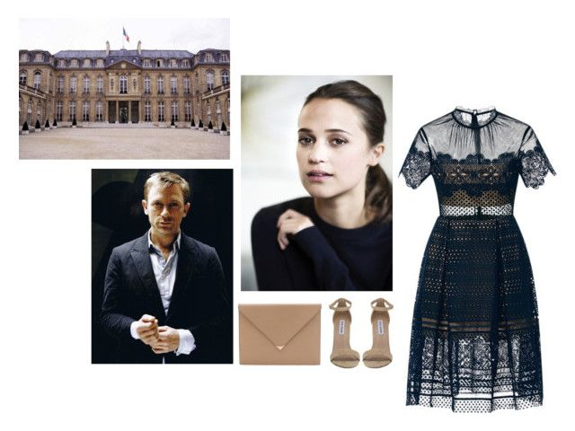 """Crown Princess of Genovia in the Elysee Palace"" by asmin ❤ liked on Polyvore featuring self-portrait, Steve Madden, Alexander Wang and country"