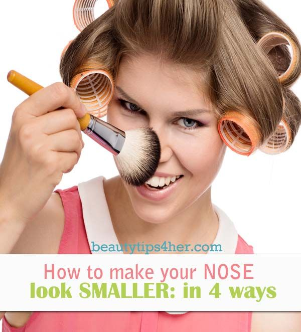 how to make your nose smaller without plastic surgery