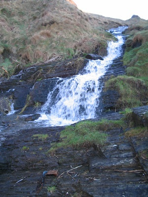 The waterfall next to the 100 odd steps down to Mwnt beach