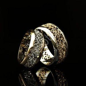 Винтажные обручальные кольца с орнаментом. 56550 руб. Пара