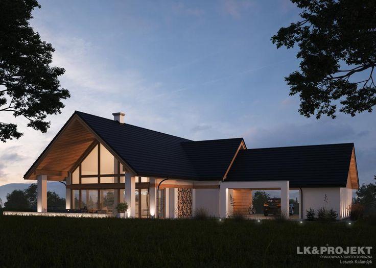 Projekty domów LK&Projekt LK&1292 wizualizacja 1
