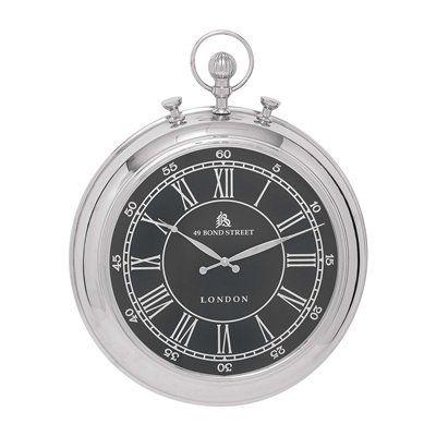 woodland imports vintage traditional pocket metal wall clock