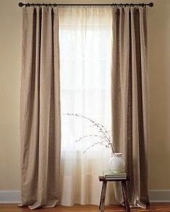 flat bed sheets for curtains - definitely doing this when we move in and have no money!