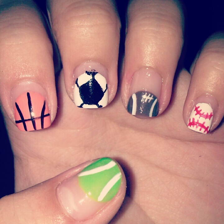 167 best nails images on pinterest nail nail nice nails and sports nails prinsesfo Image collections
